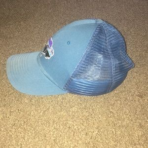 25c7173bd Navy blue Patagonia buffalo trucker hard mesh hat